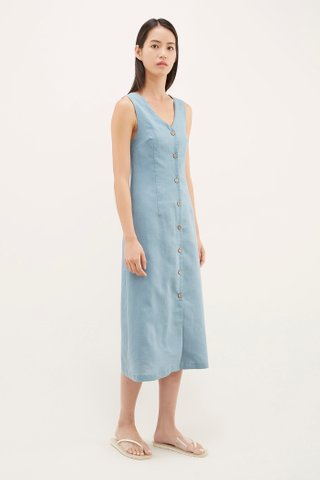 Lyster V-neck Column Dress