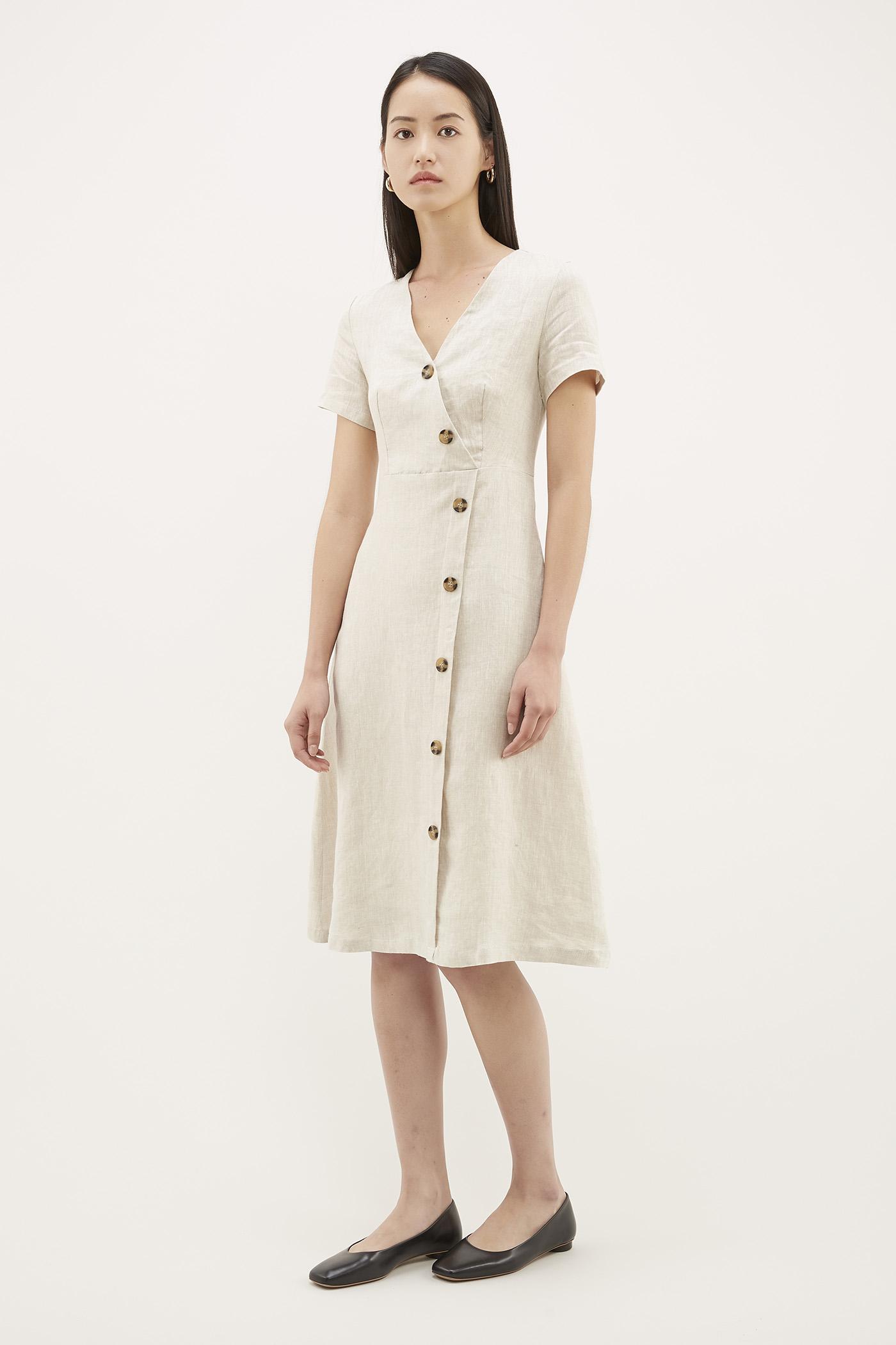 Kofi Slash-button Dress