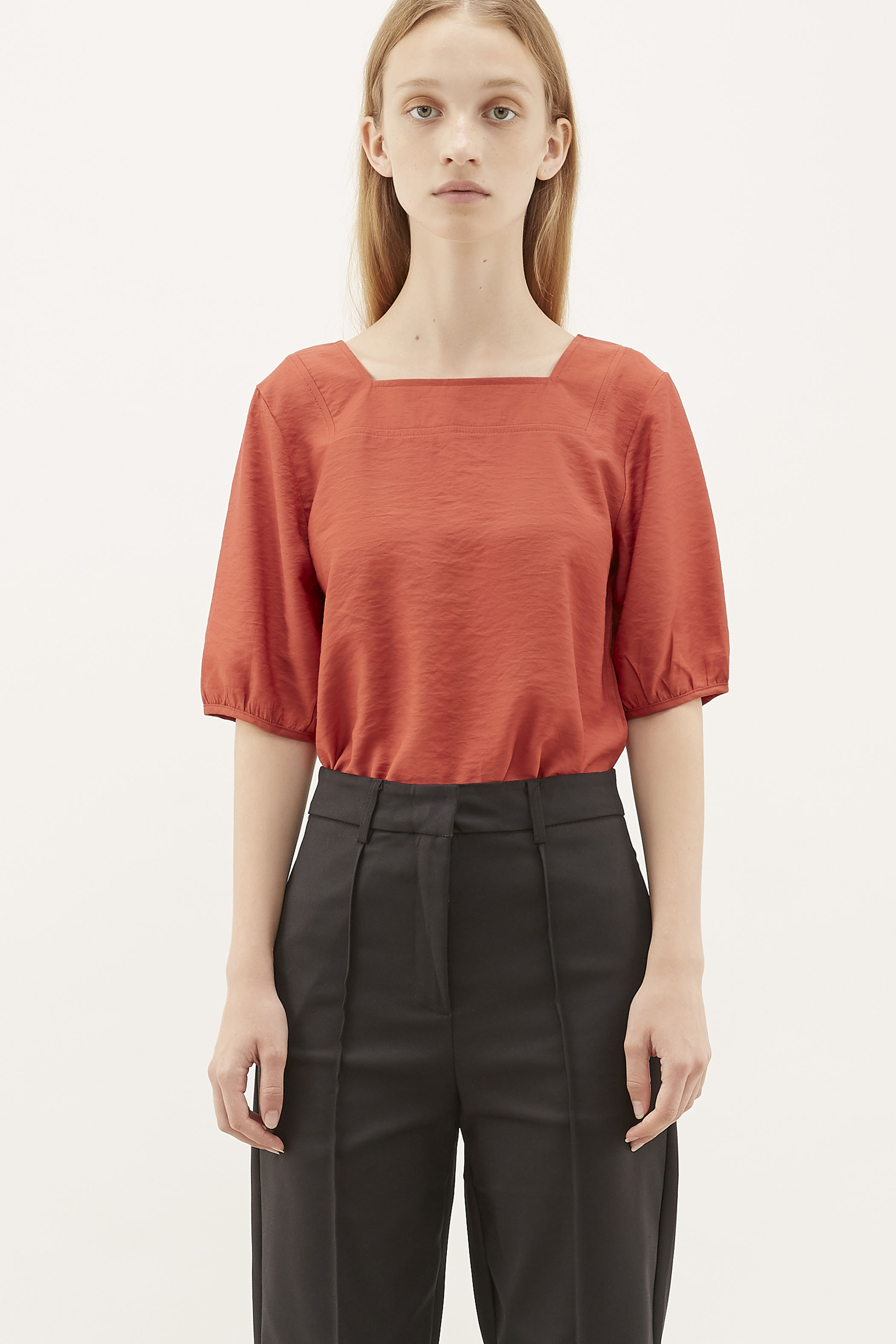 Clark Square-neck Blouse