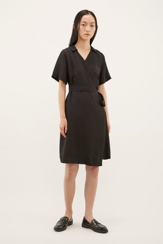 Jarita Collared Wrap Dress