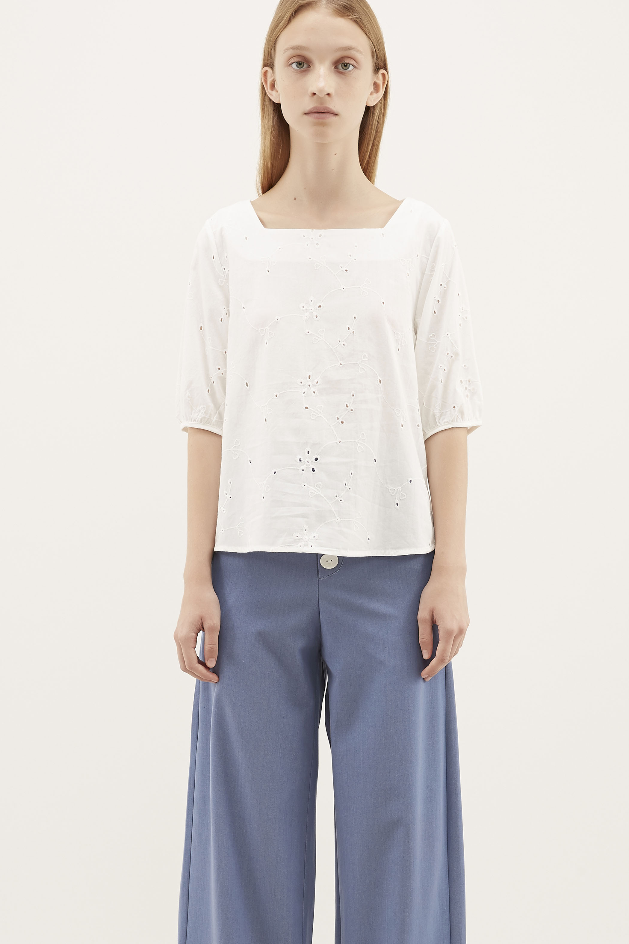 Jerilyn Square-neck Blouse
