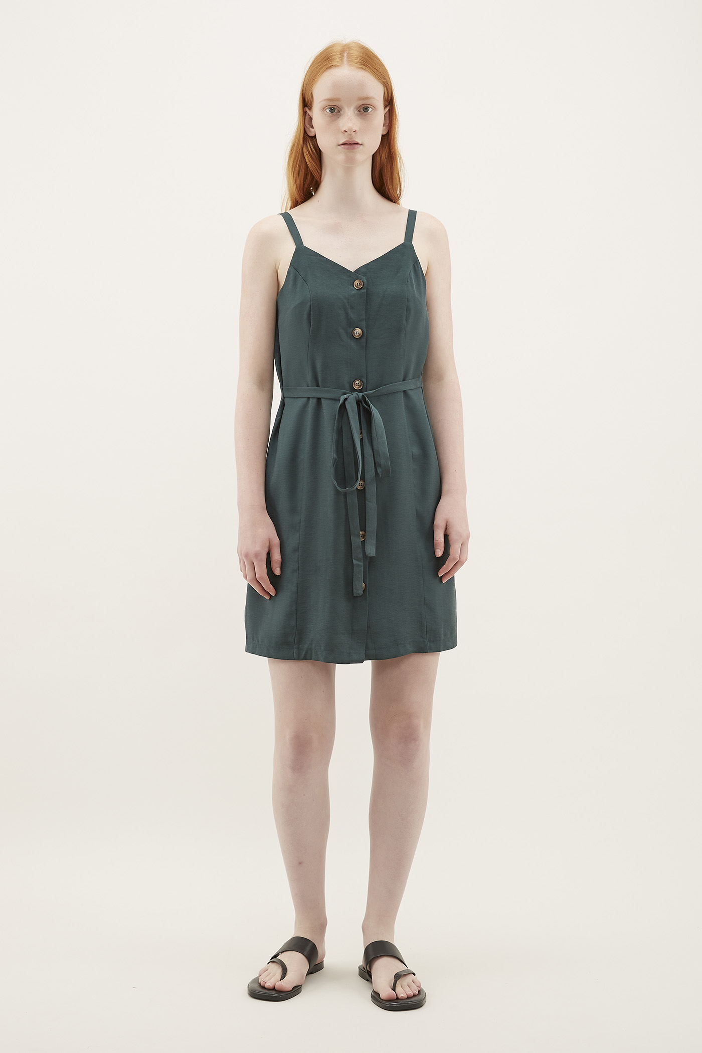 Pimm Tie Waist Button-Through Dress