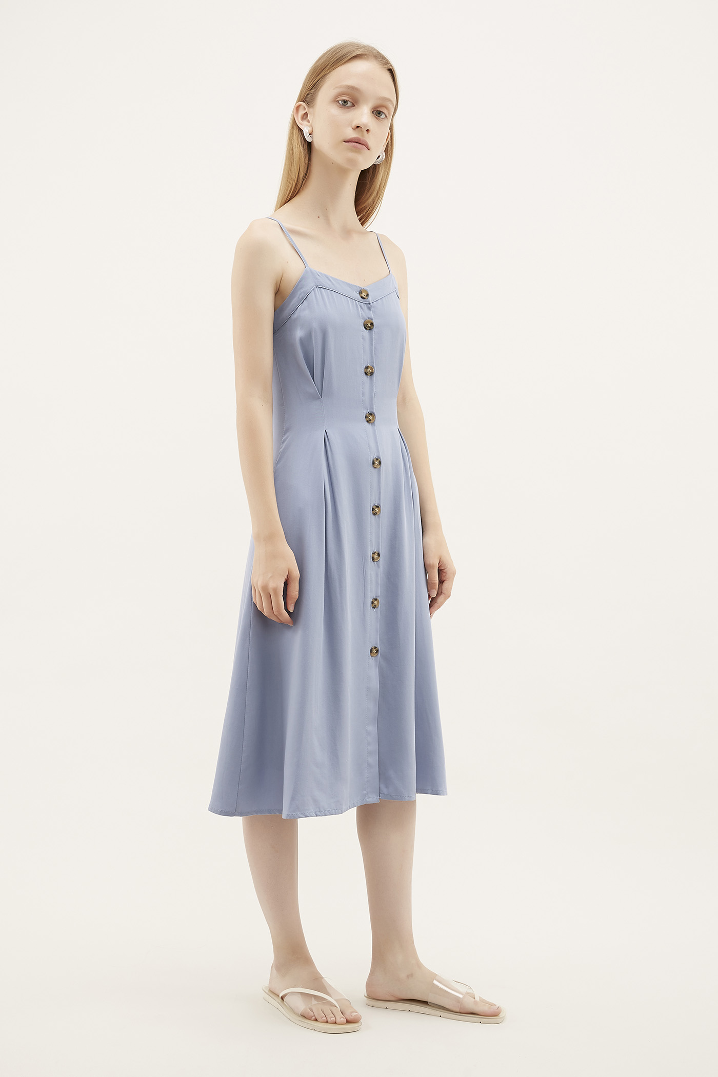 Nuria Box-pleat Dress