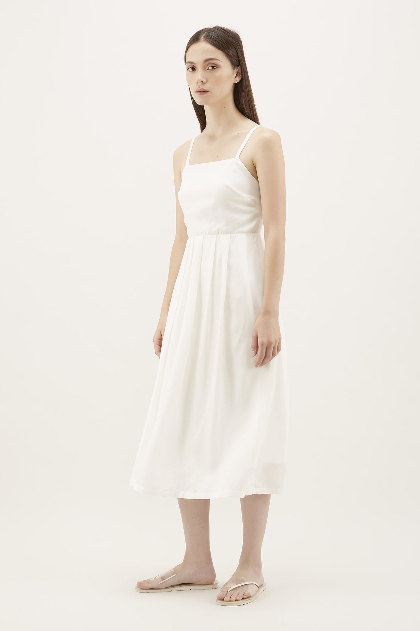Klaire Pleat Midi Dress