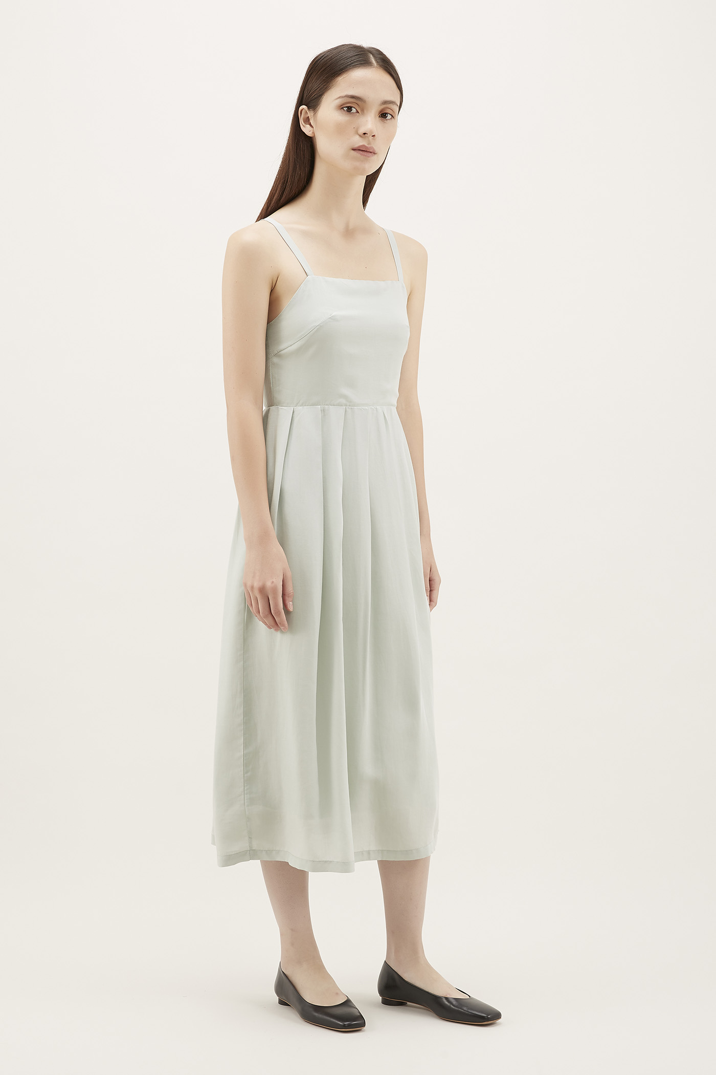 Klaire Pleat Midi Dress