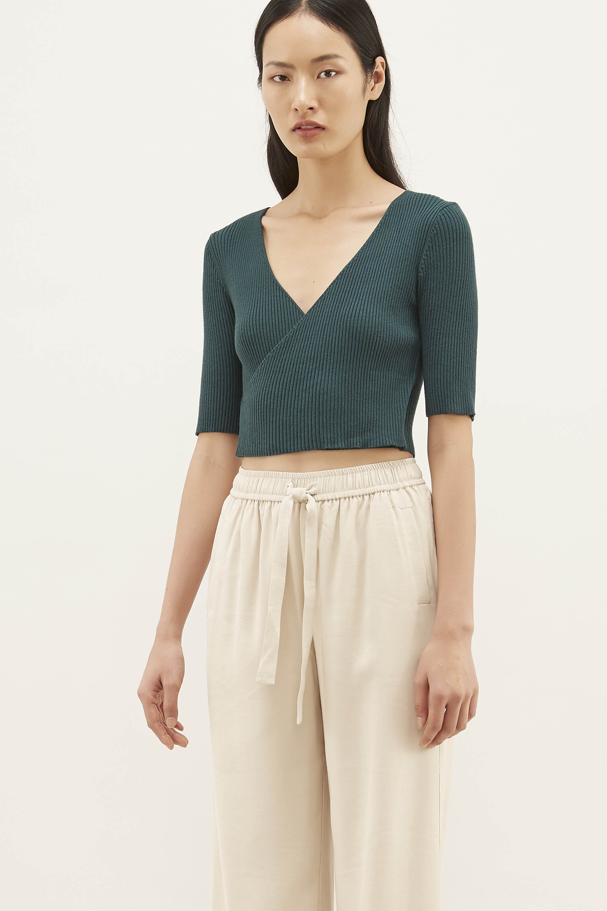 Daphne Knit Wrap Top