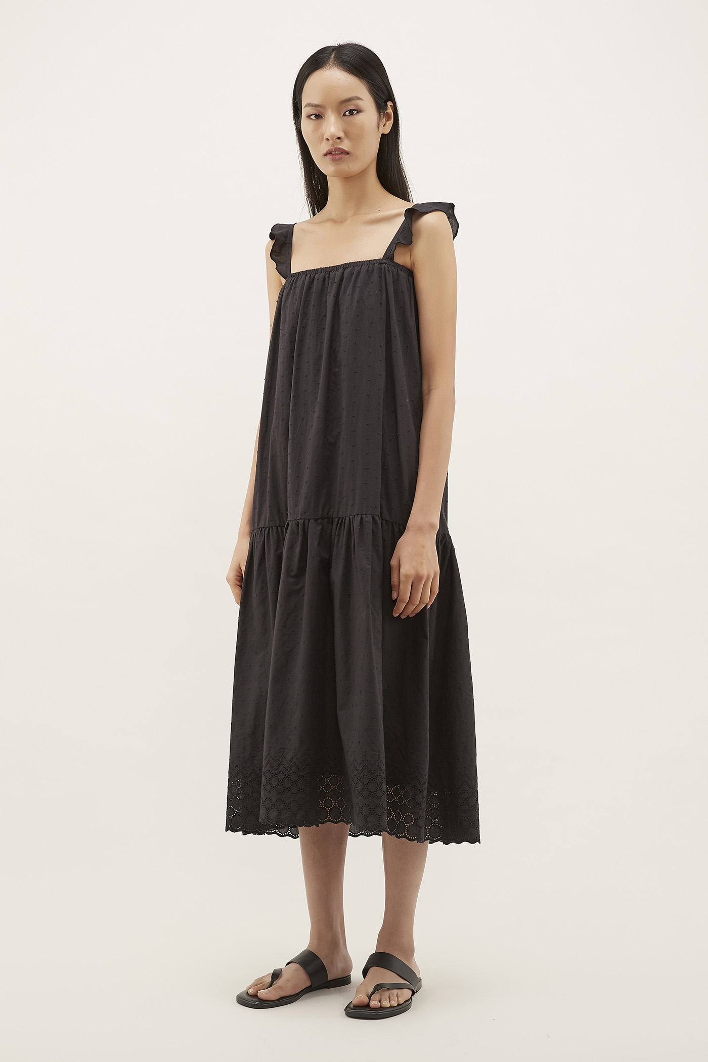 Rhian Textured Drop-waist Dress