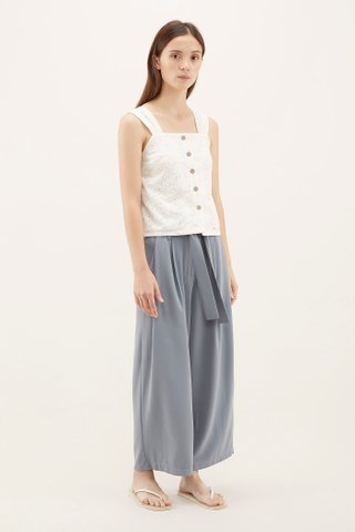 Solvi Eyelet Square-neck Top