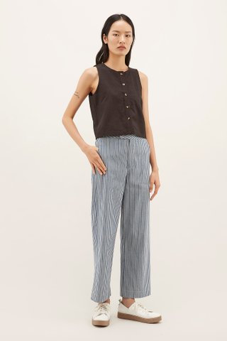 Shiana Button-down Tank Top