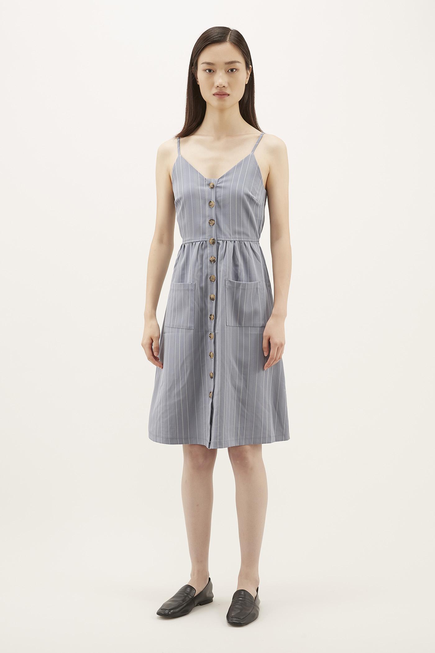 Roselyn Pinstripe Dress