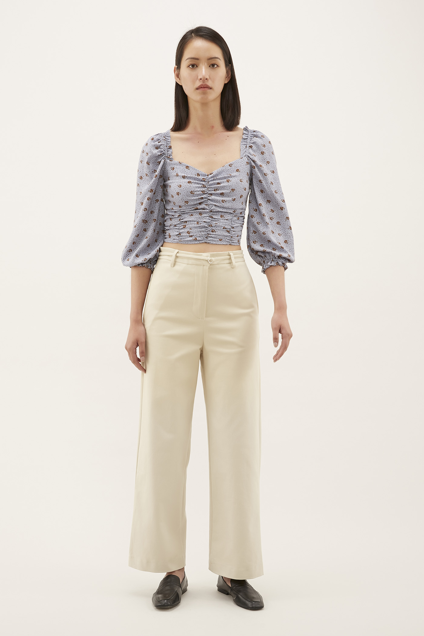Levanne Ruched Crop Top