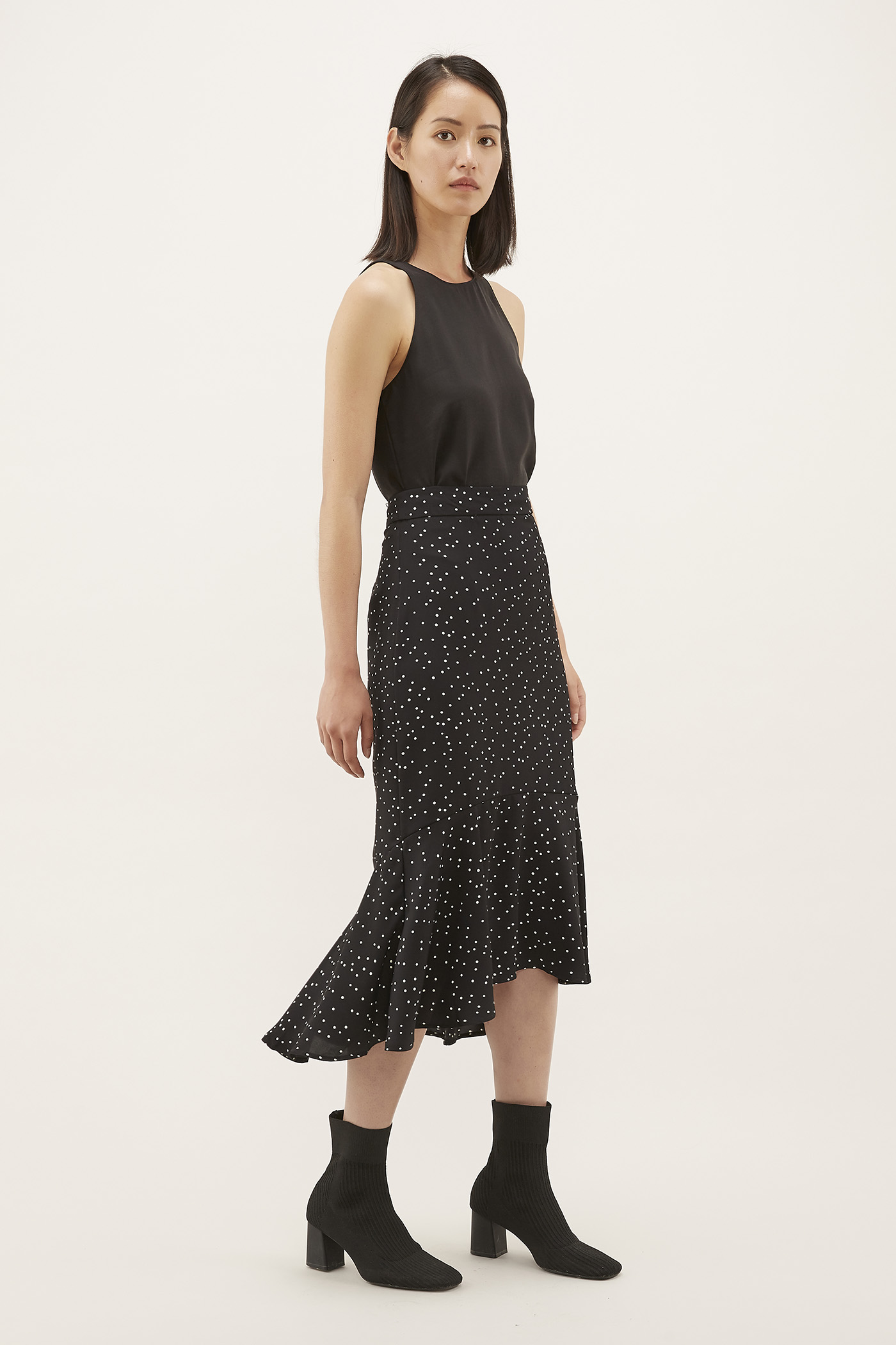 Joriane Frill-hem Skirt