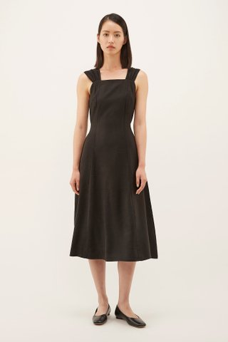 Kamila Ruched-strap Dress
