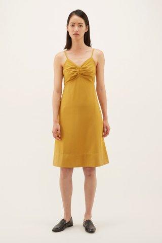 Krystin Pleat-front Slip Dress