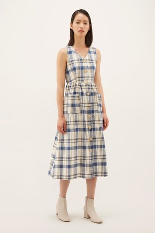 Halina V-neck Cotton Dress