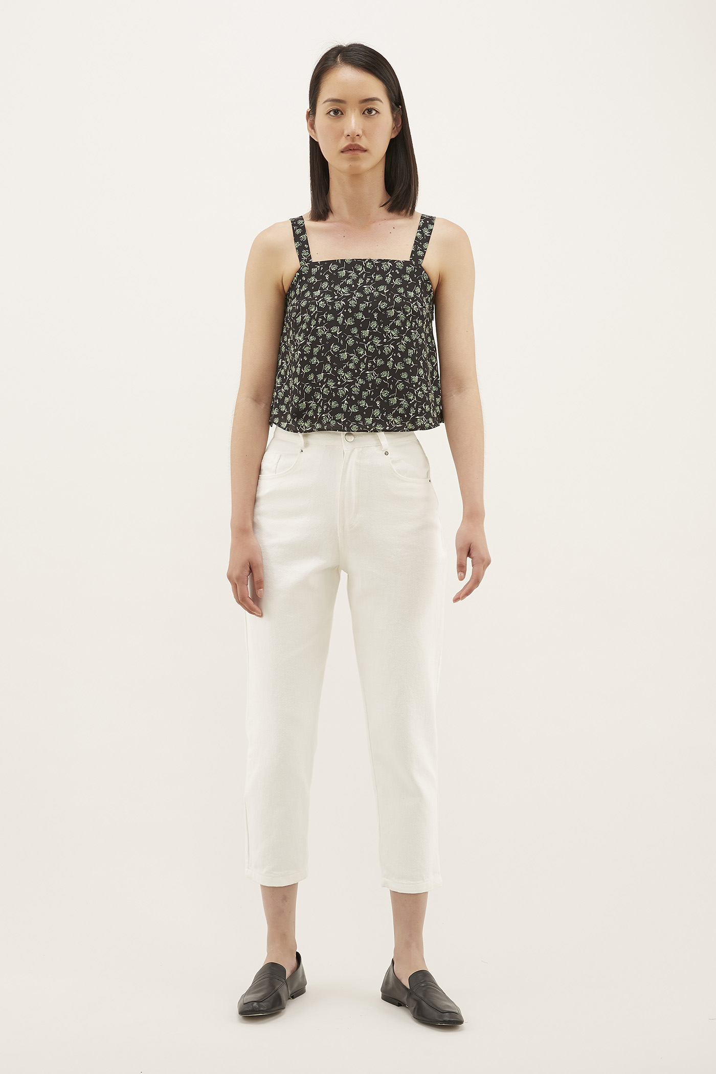 Dania Square-neck Crop Top