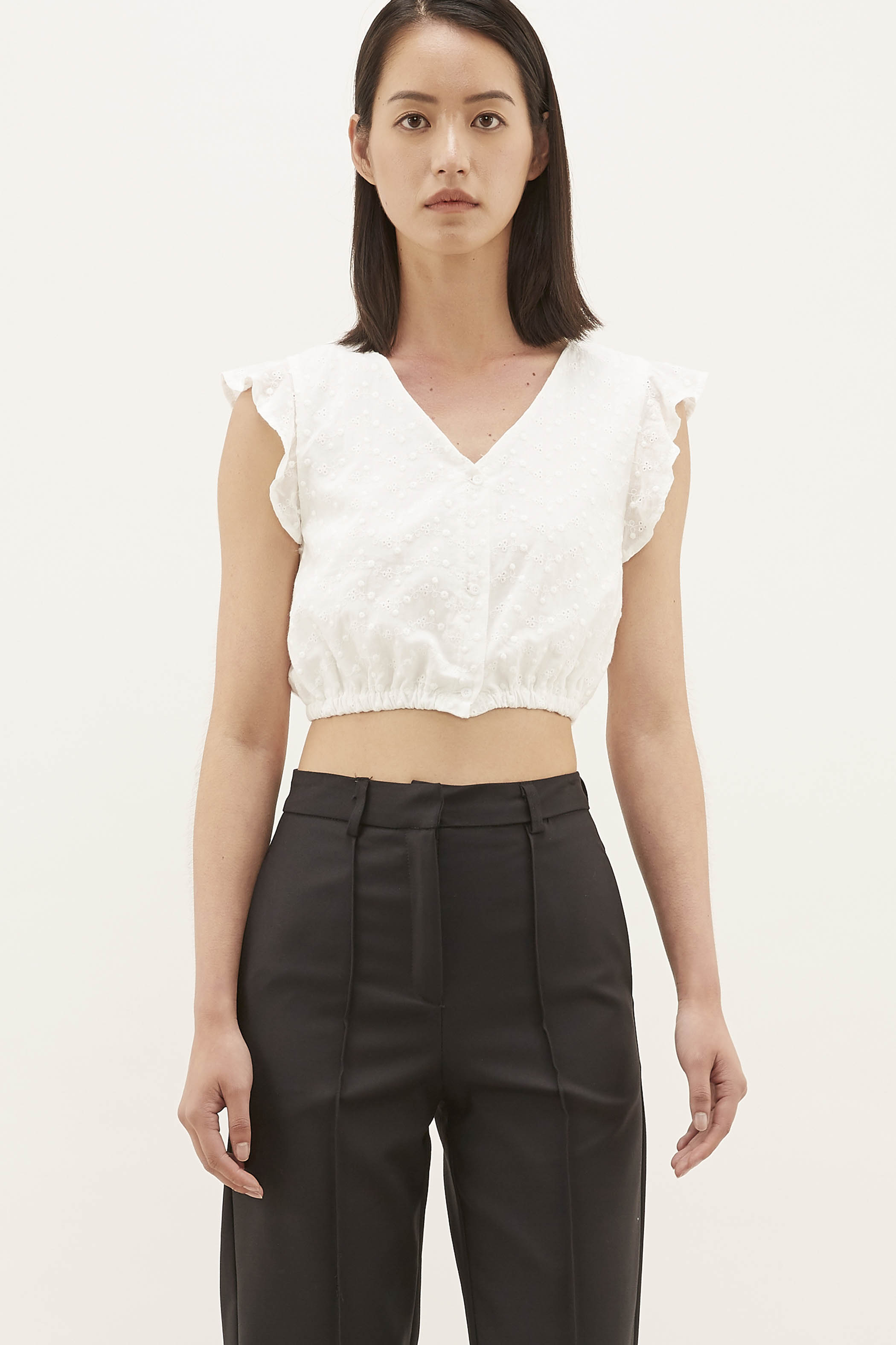 Jalee Broderie Crop Top