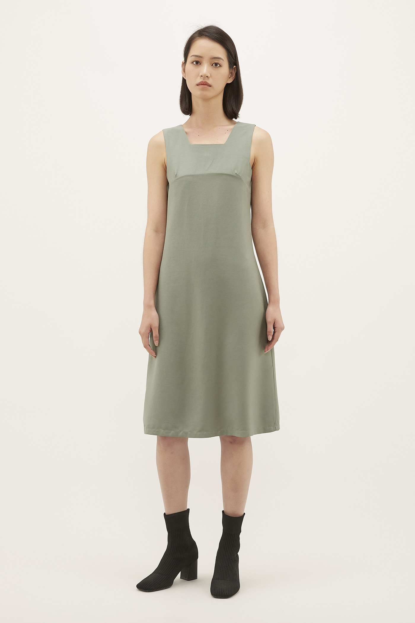 Reliza Square-neck Dress