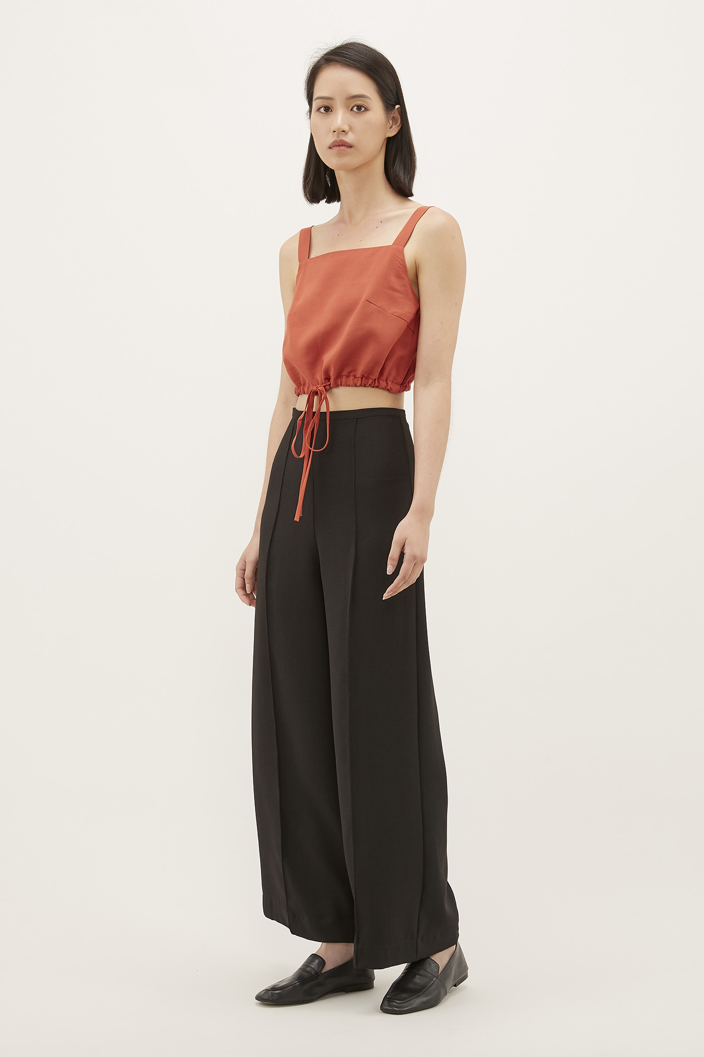 Emari Square-neck Crop Top
