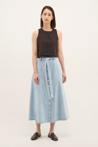 Ruben A-Line Denim Skirt
