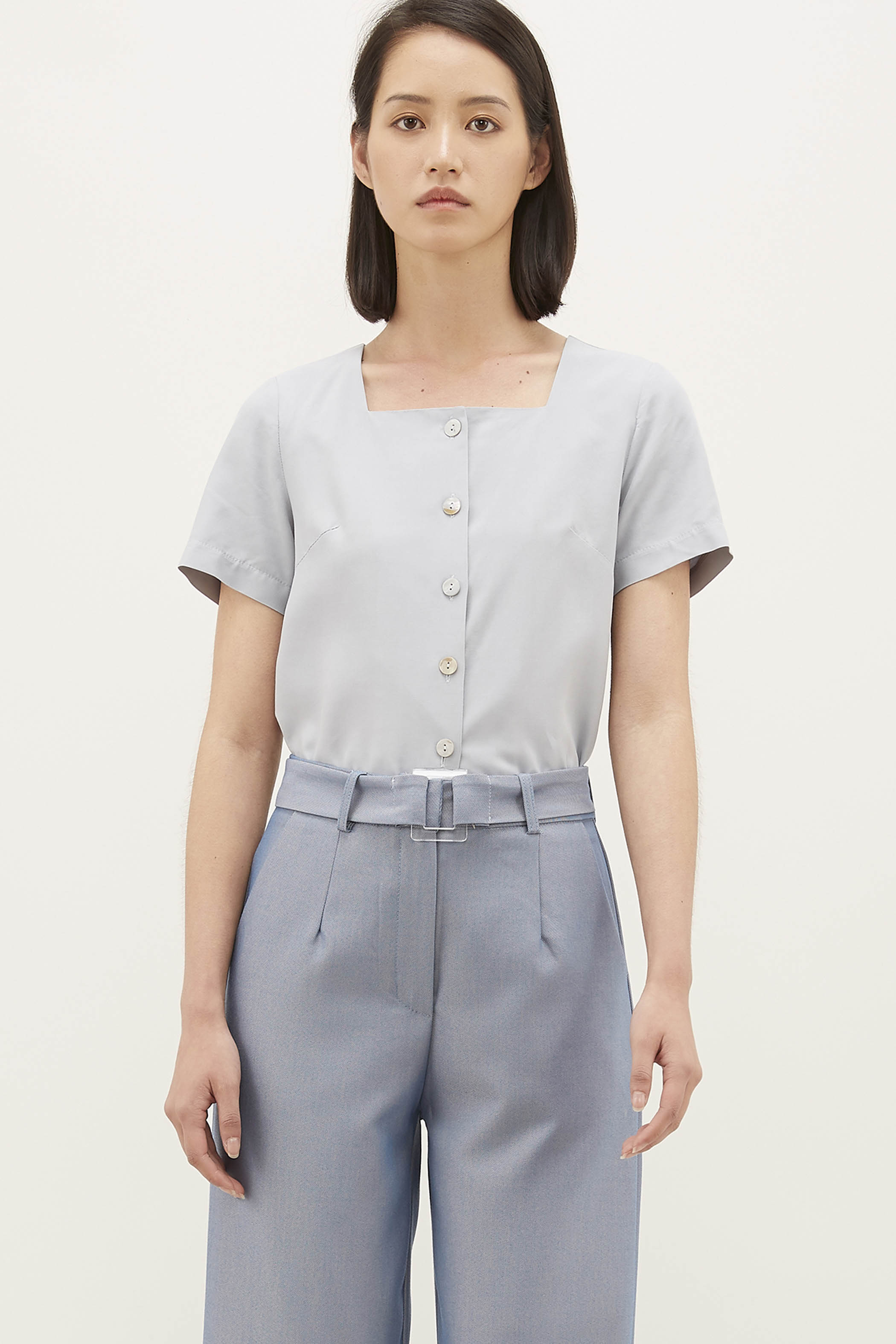 Falyn Square-neck Blouse