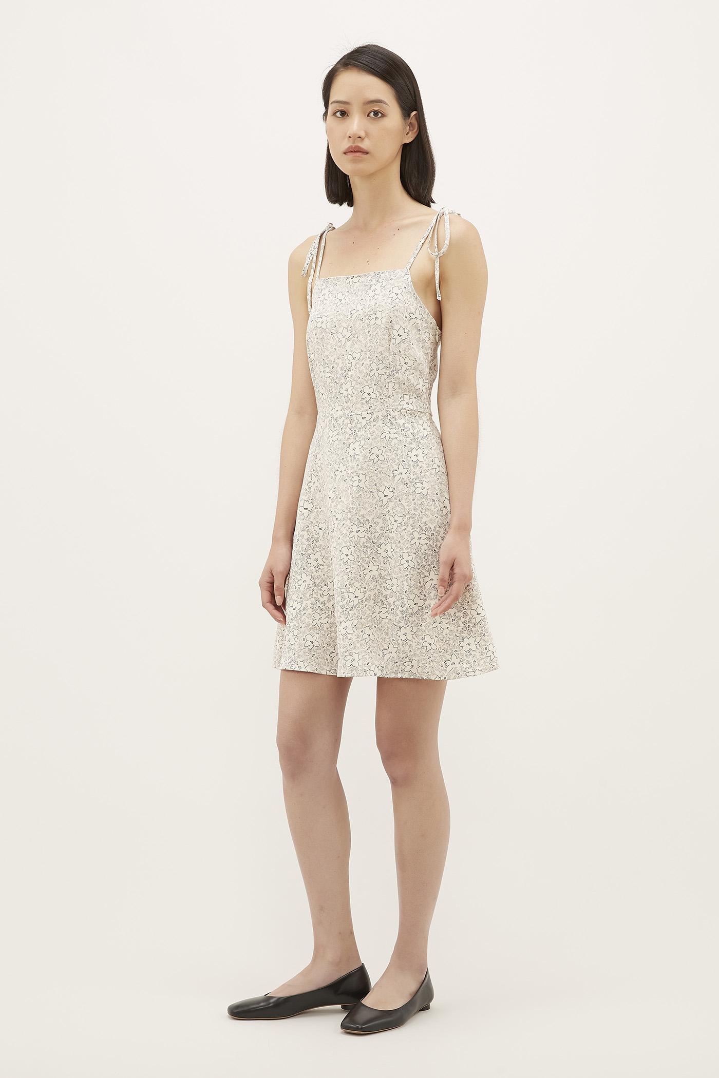 Syrena Tie-strap Mini Dress