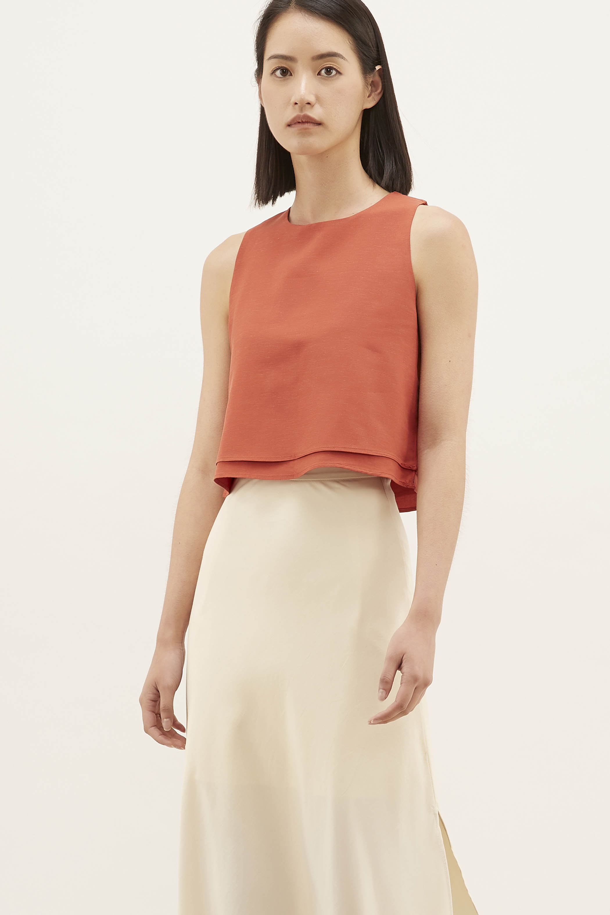 Yelna Layered Crop Top