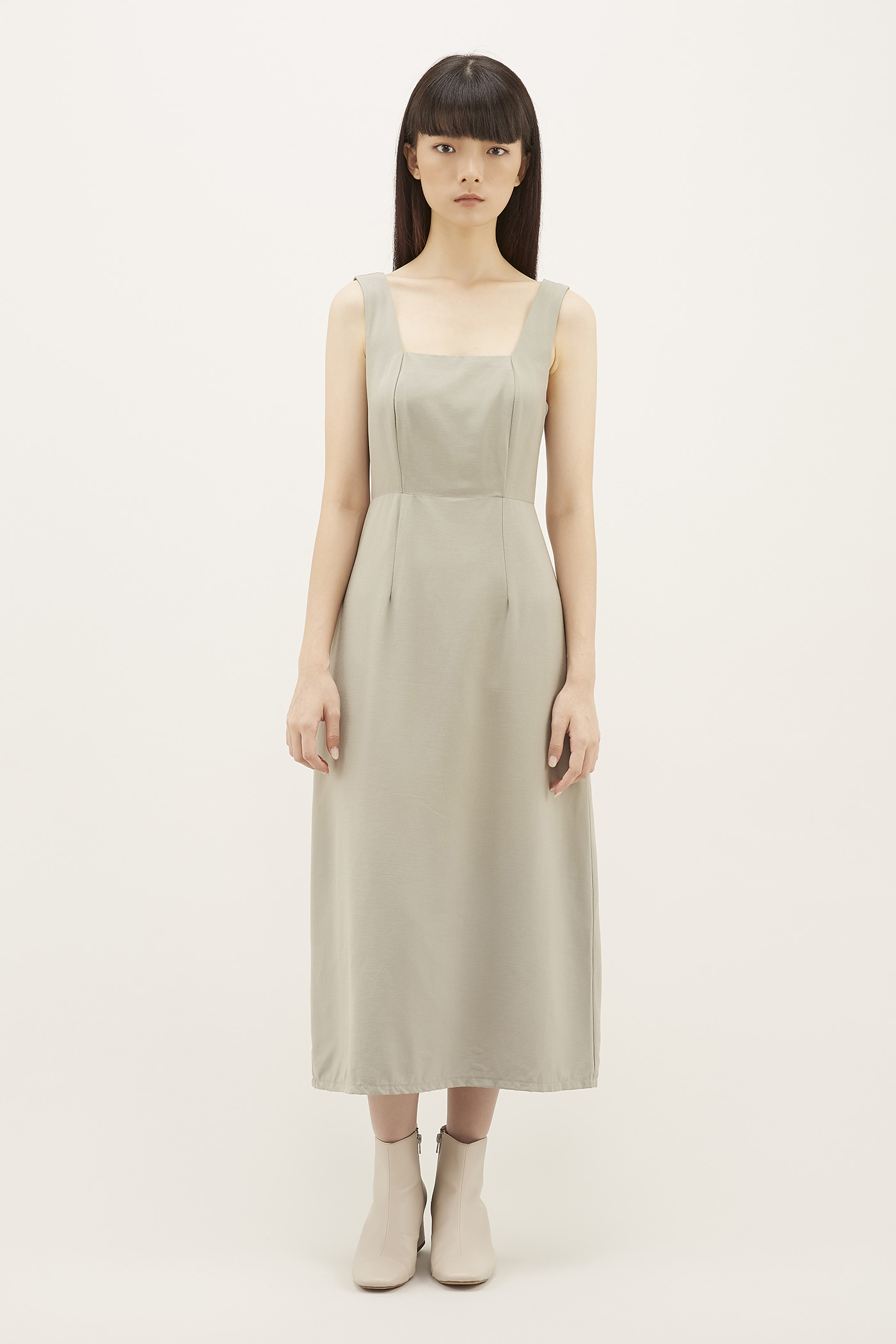 Korina Square-neck Midi Dress