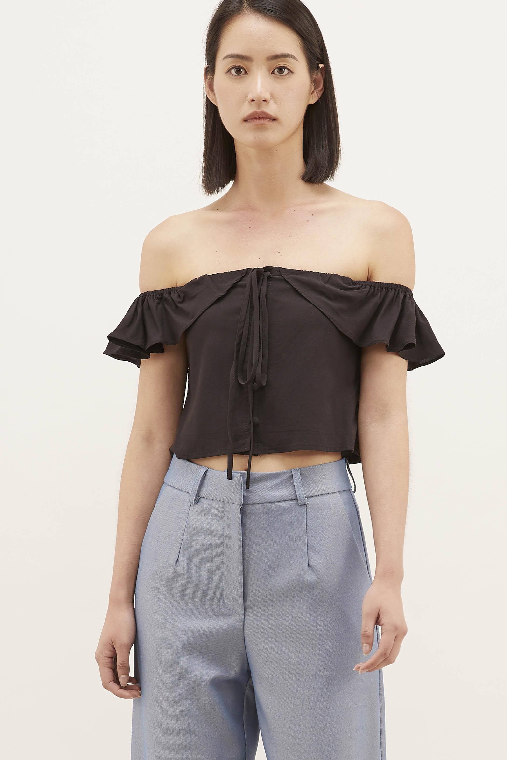 Teena Off-shoulder Crop Top
