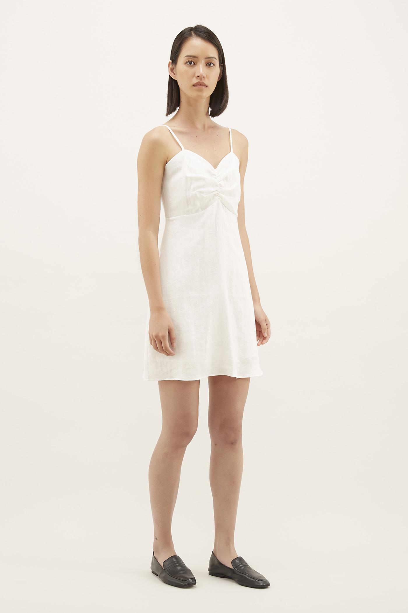 Reah Linen Mini Dress