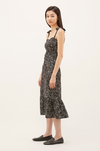Clarita Frill-trim Fitted Dress