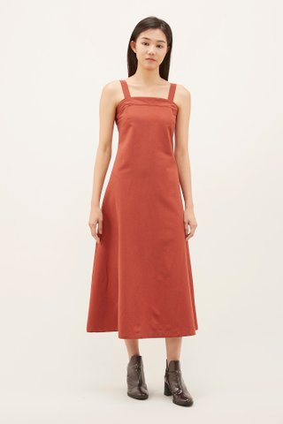 Kyleen Square-neck Maxi Dress