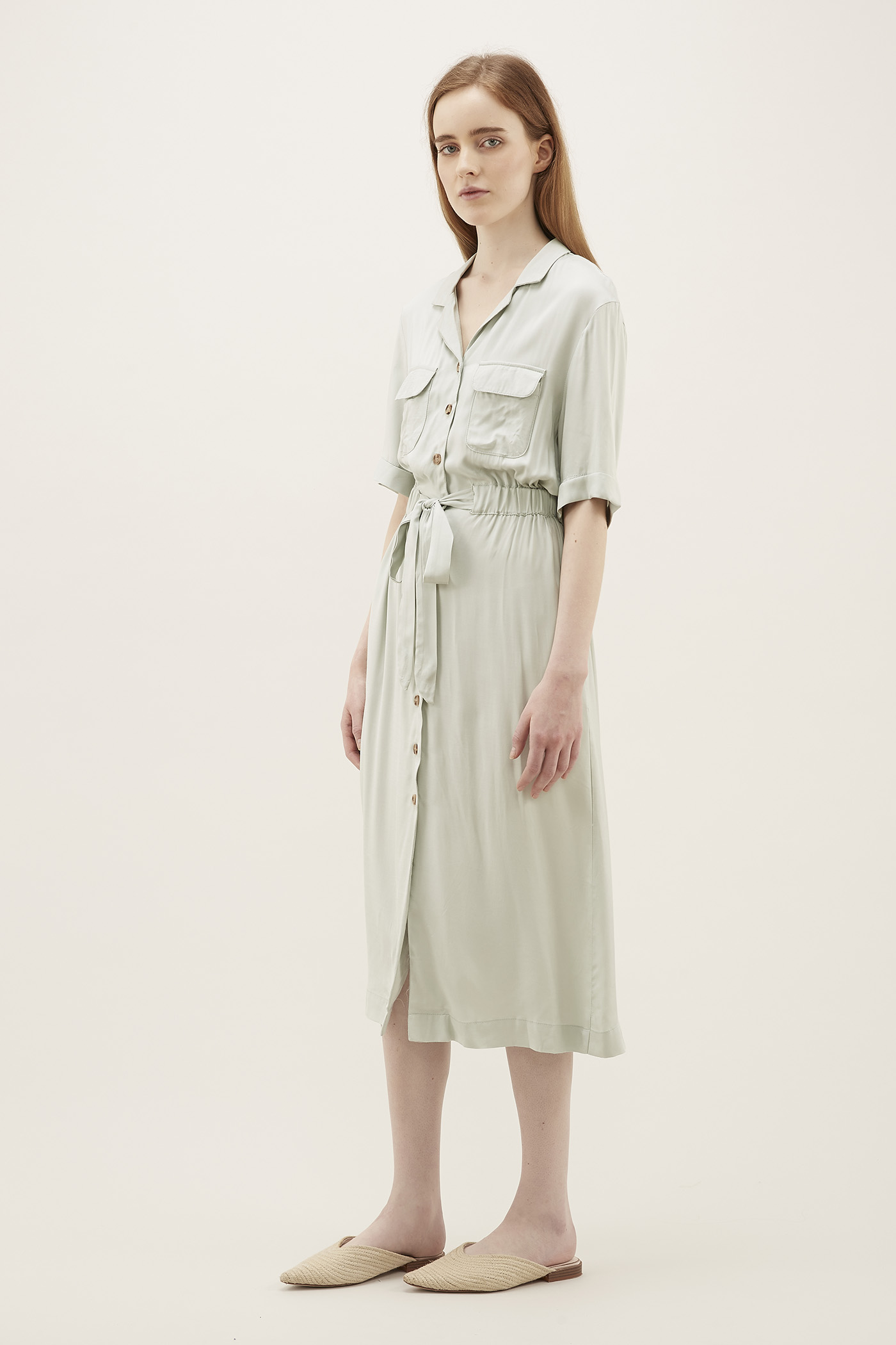 Meryna Drawstring Shirtdress