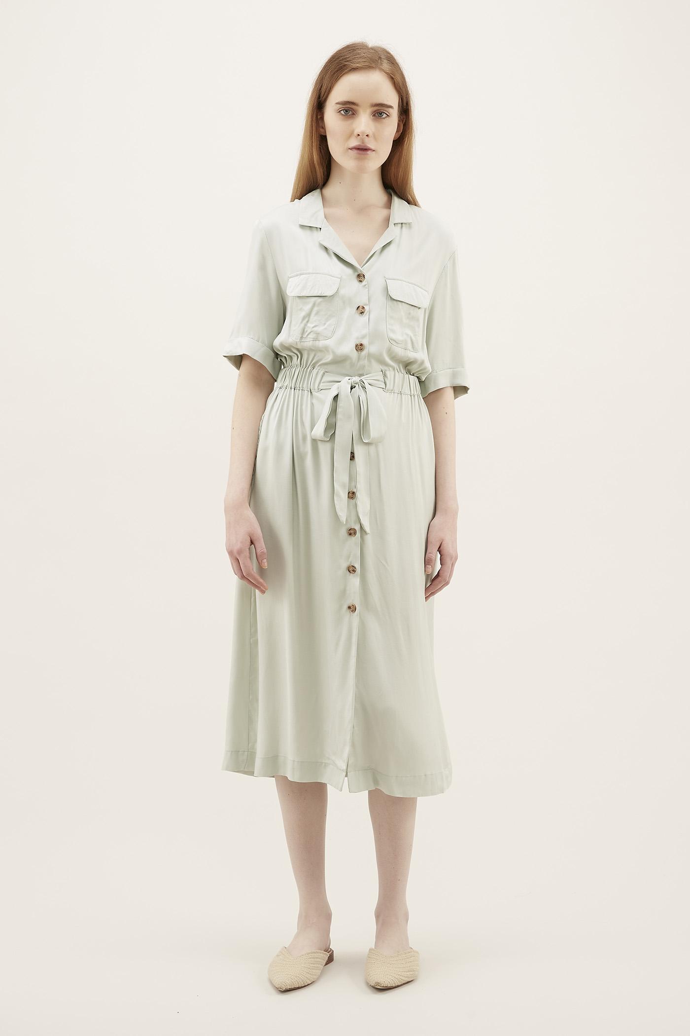 Meryna Drawstring Shirtdress