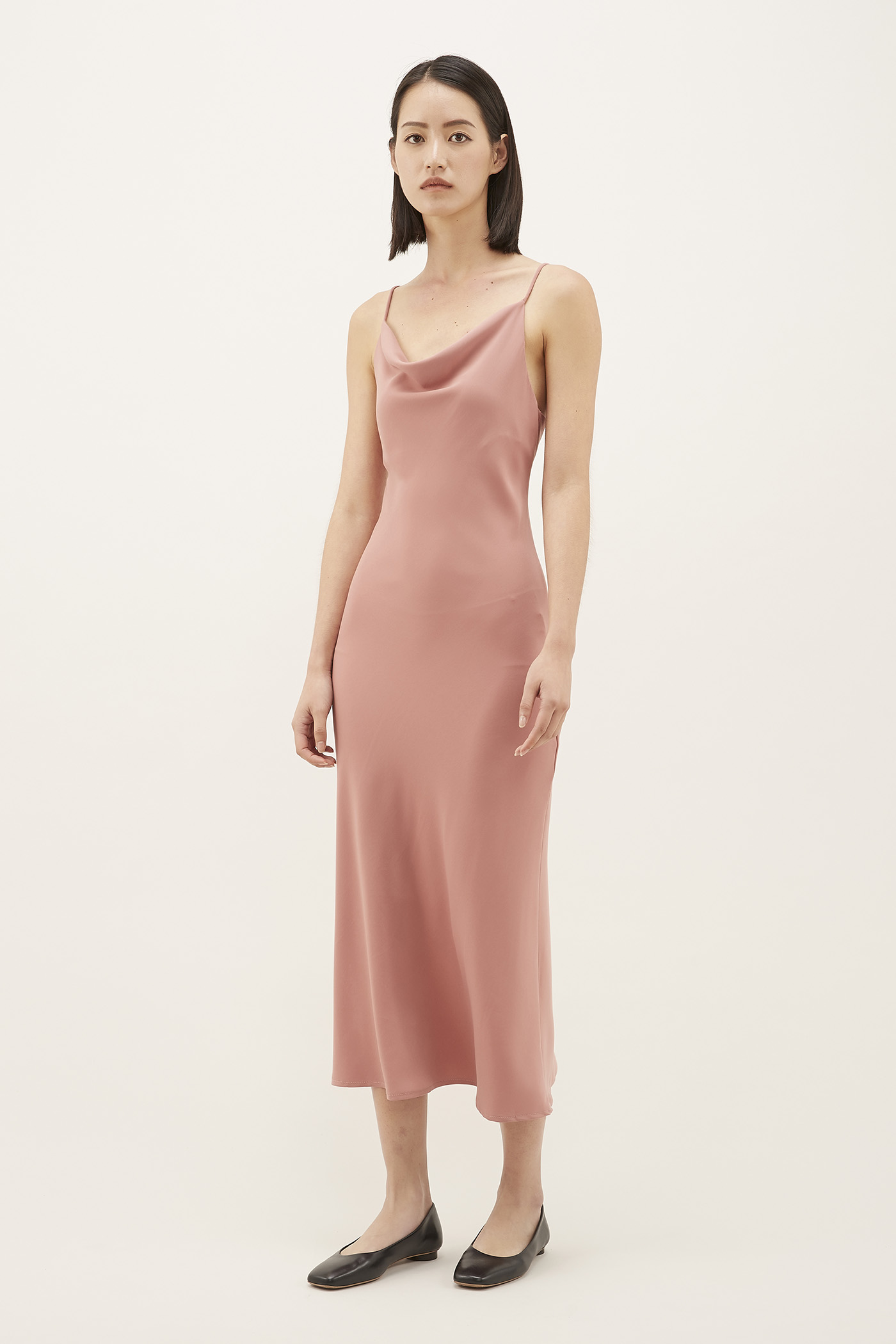 Jaclyne Cowl-neck Slip Dress