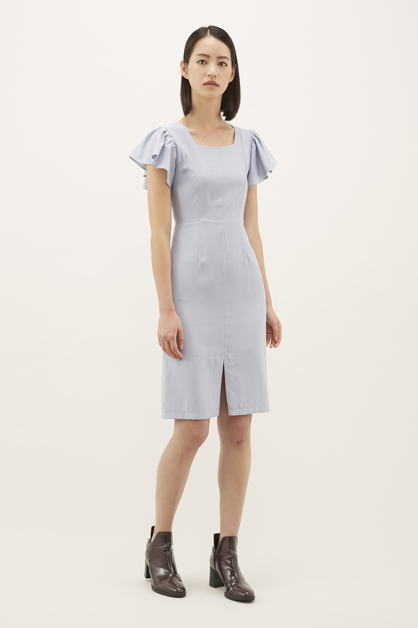 Nowelle Flutter-sleeve Dress