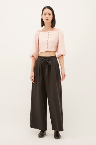 Elysa Square-neck Crop Top