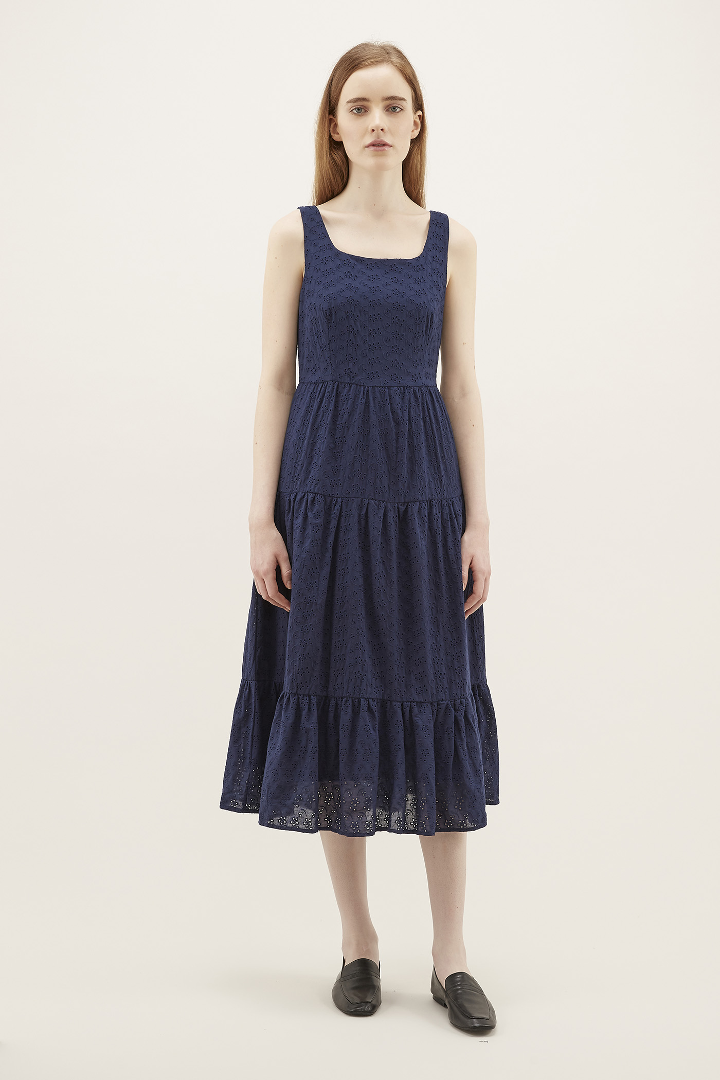 Kolina Broderie Tiered Dress