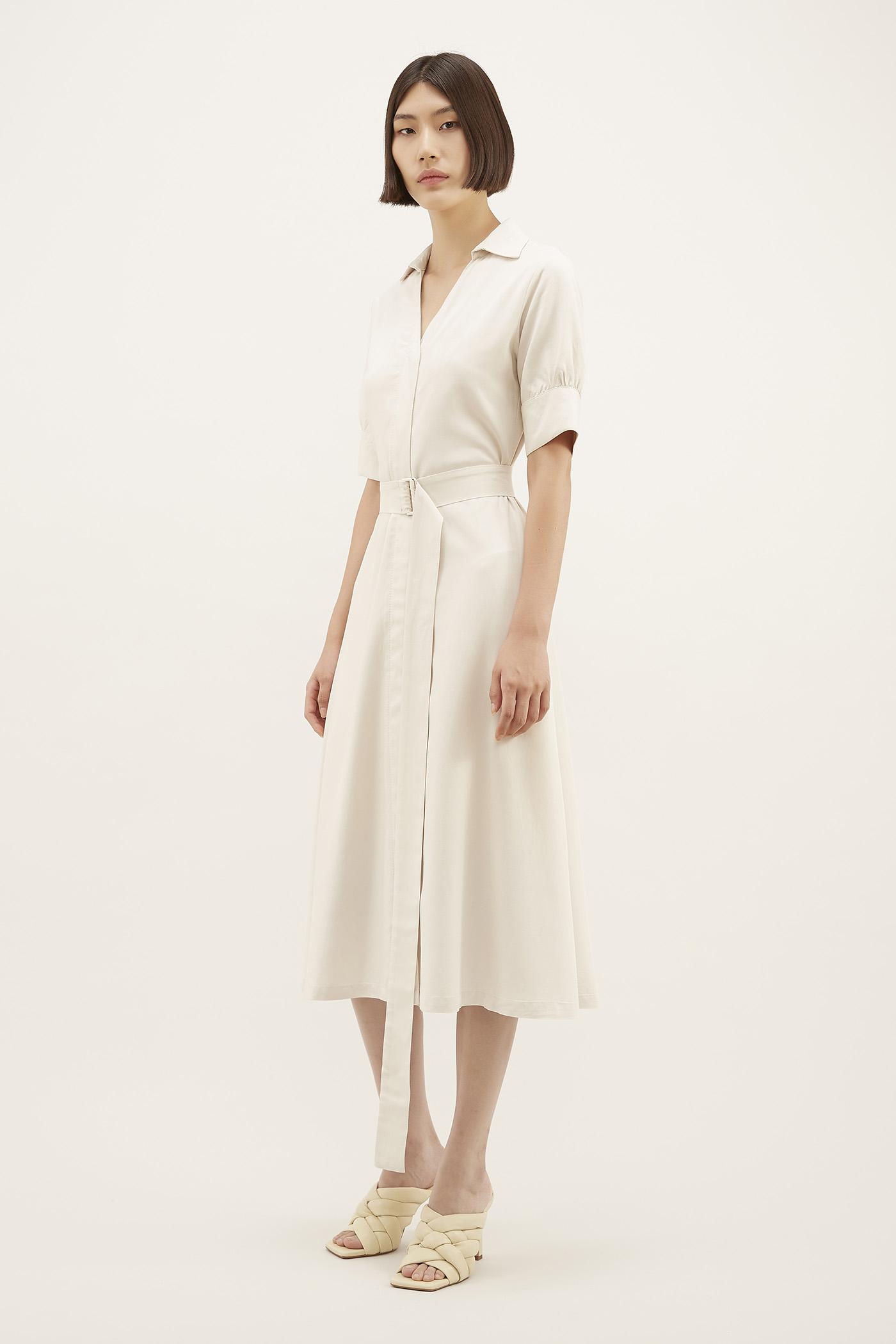 Dameeca Belted Shirtdress