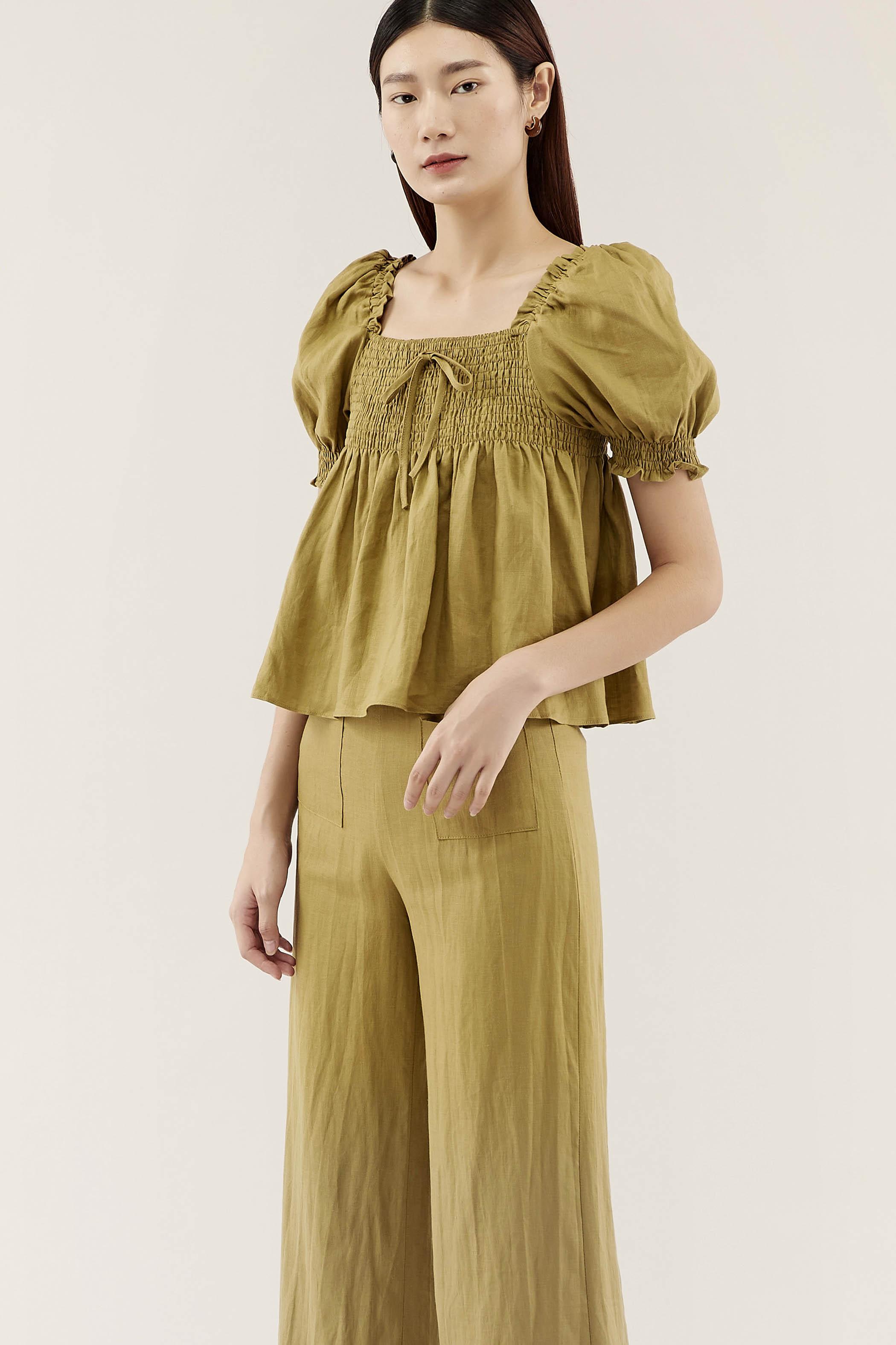 Verra Puff-sleeve Blouse