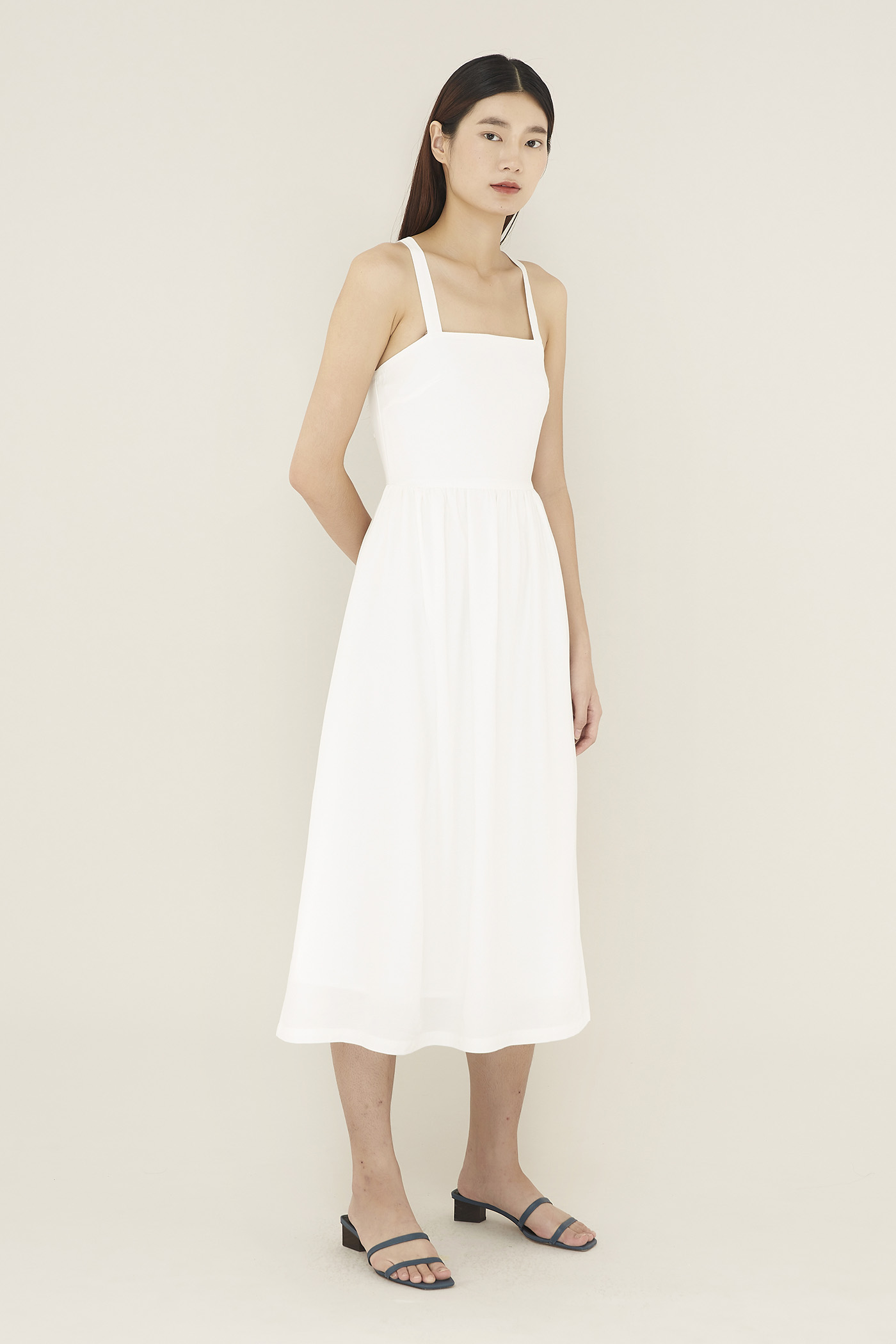 Ophelie Square-neck Dress