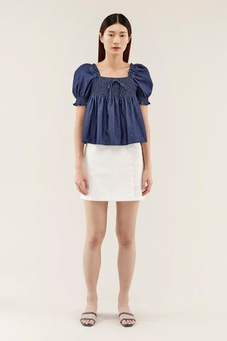 Verlene Puff-sleeve Blouse