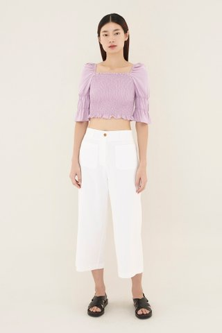 Roxane Shirred Crop Top