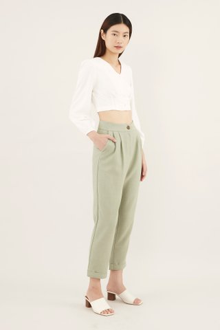 Leonna Puff-sleeve Crop Top