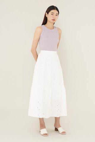 Flavie Broderie Maxi Skirt