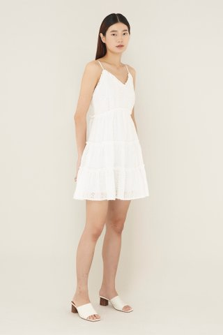Laviel Frill-trim Tiered Dress