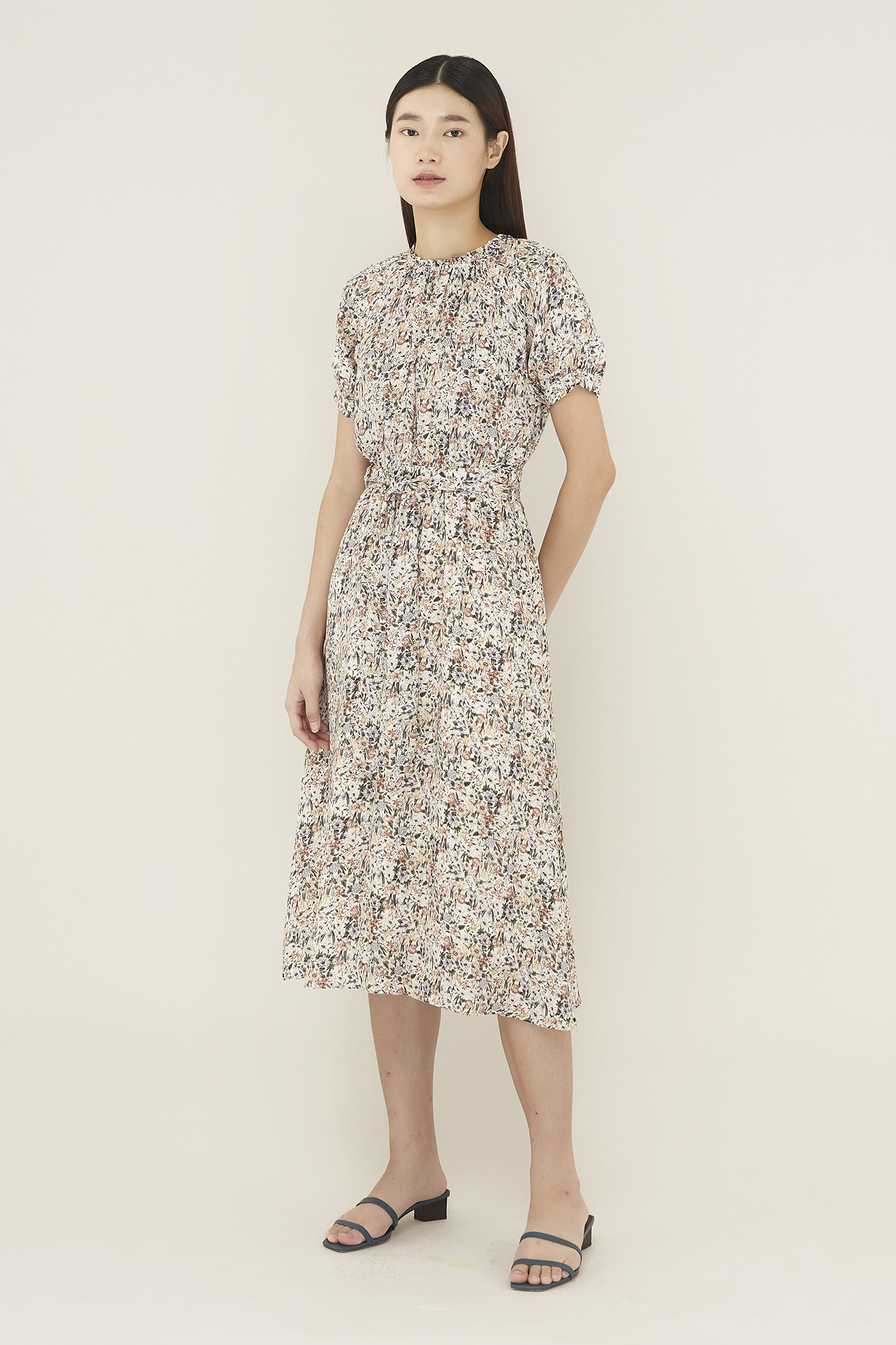 Anneta Mock-neck Dress