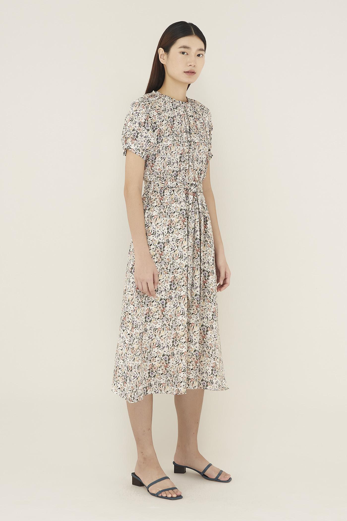 Anneta Mock-neck Dress