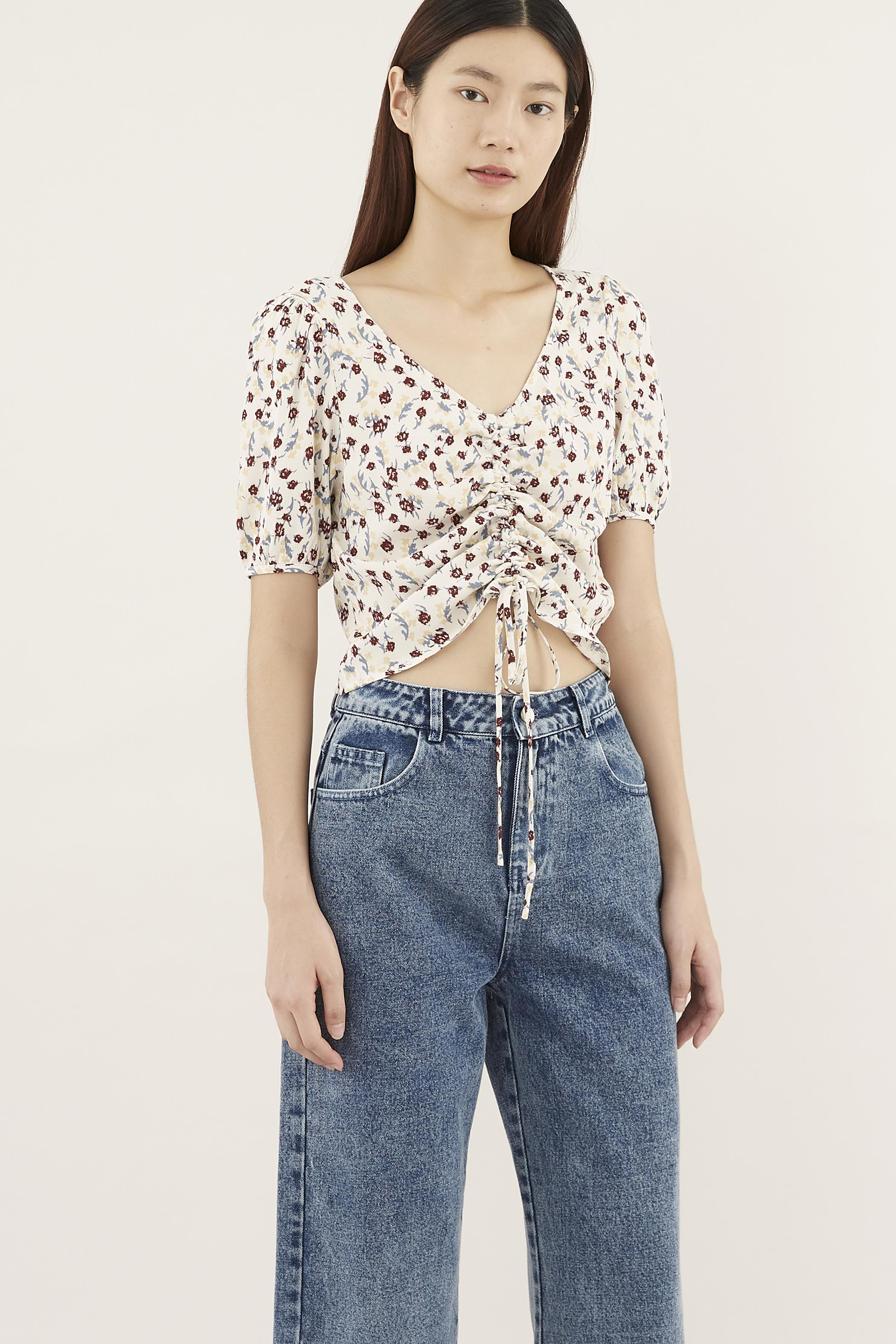 Catryn Ruched Crop Top