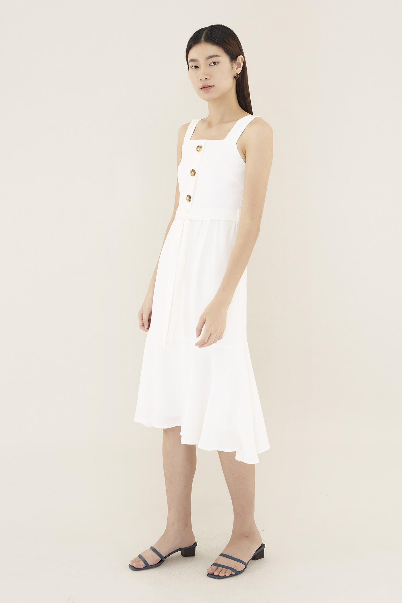 Deveon Square-neck Dress